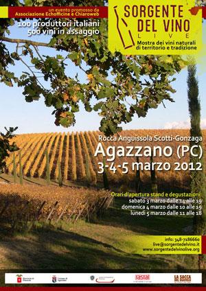 locandina sorgentedelvino live 2012